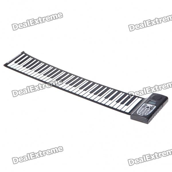 61-Key Digital Roll-up Soft Silicone Piano with MIDI