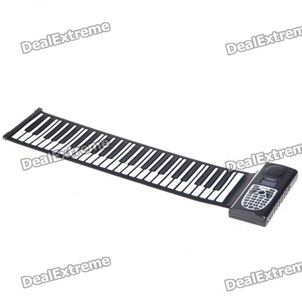 49-Key Digital Roll-up Soft Silicone Piano with MIDI
