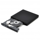 Slim Portable External USB 4X Blu-Ray/RW CD/DVD Burner Player - Black