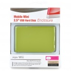 "2.5"" Mini External HDD Enclosure with Carrying Pouch Set for Wii - Green"