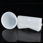 Portable Silicone Horn Stand Acoustic Amplifier for Iphone 4 - White