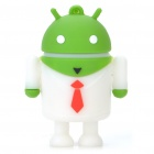 Cute Android Robot Style USB Flash/Jump Drive - White + Green (4GB)