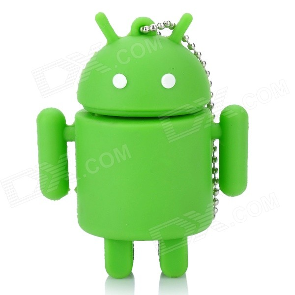 Cute Android Robot Style USB Flash/Jump Drive - Green (8GB) original catalog flash android