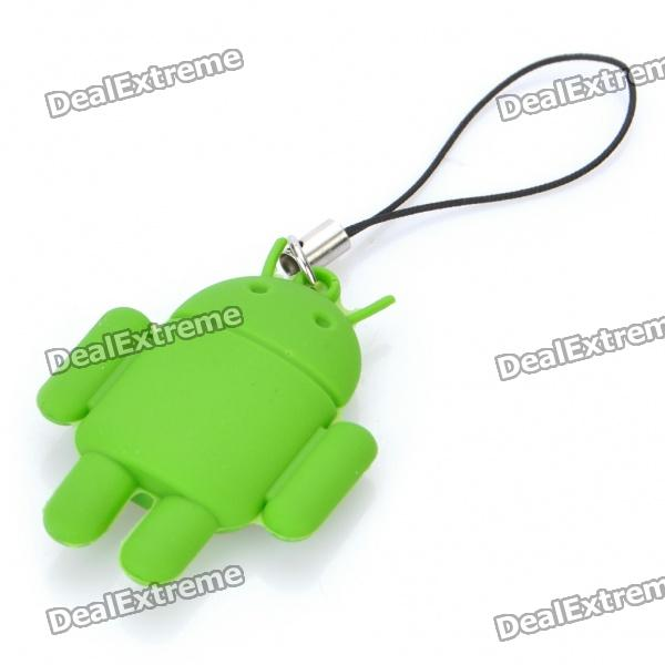 Cute Android Robot Style Cell Phone Strap - Green