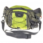 In-way Multifunction Waist/One Shoulder Bag for Camera - Green + Black