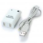 "USB Rechargeable ""4800mAh"" Battery with USB Charging Cable for Xbox 360 Controller - White"