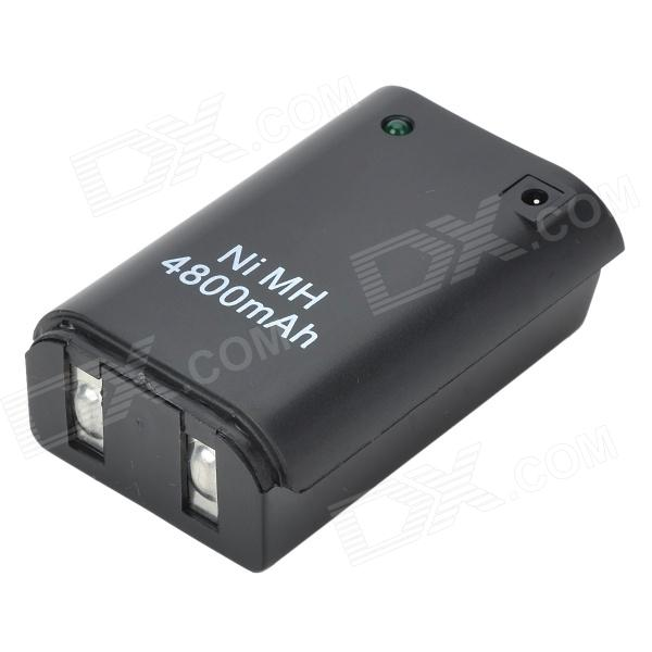 "USB Rechargeable ""4800mAh"" Battery for Xbox 360 Controller - Black"