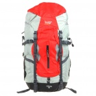 In-way Travel Backpack Double-Shoulder Bag with Umbrella Holder - Red + Grey