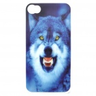Protective PC Back Case with 3D Graphic for Iphone 4 - Wolf