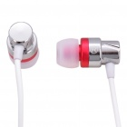 Designer's In-Ear Stereo Earphones with Microphone - Pink + White (3.5mm Jack/110CM-Cable)