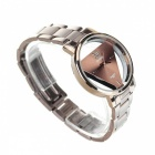 DayBird Triangle Style Stainless Steel Quartz Wrist Watch - Coffee (1 x LR626)