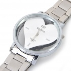 DayBird Heart Style Stainless Steel Quartz Wrist Watch - Silver (1 x LR626)