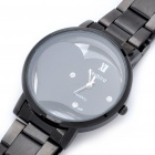 DayBird Heart Style Stainless Steel Quartz Wrist Watch - Black (1 x LR626)