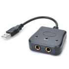 USB to 2 x 6.3mm Audio Adapter for PC/Wii/PS3/PS2/Xbox 360
