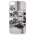 Protective PC Back Case with 3D Graphic for Iphone 4 - Dalmatians