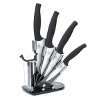 6-in-1 Zirconia Ceramic Knives + Peeler + Acrylic Knives Holder Set