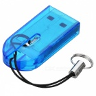 MicroSD TransFlash USB Card Reader with Cover (Blue)
