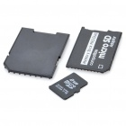 Designer's Micro SD/TF Card with SD + MS Card Adapters (2GB)