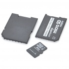 Designer's Micro SD/TF Card with SD + MS Card Adapters (8GB)