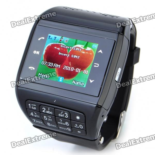 "1.3"" Touch Screen Wrist Watch Style Dual SIM Dual Network Standby Quadband GSM Cell Phone w/ Camera"