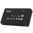 Compact Black All-in-One USB 2.0 Card Reader