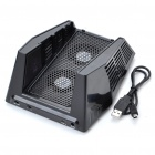 USB Powered 2-Mode Cooling Fan External Stand with USB 3-Port Hub for Xbox 360 Slim