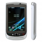 "3.2"" Touch Screen Dual-SIM Dual-Network Standby Quadband GSM TV Cell Phone w/ Wi-Fi/JAVA - White"