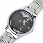 DayBird Heart Style Stainless Steel Quartz Wrist Watch - Silver + Black (1 x LR626)