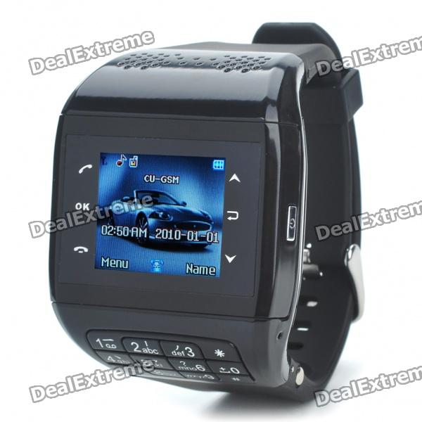 1.3 Touch Screen Wrist Watch Style Quadband GSM Cell Phone - Black haas часы haas alh 399 jwa коллекция fasciance