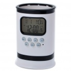 "Pen Holder Style 2.0"" LCD Multicolored Backlit Alarm Clock / Timer / Thermometer (3 x AA)"