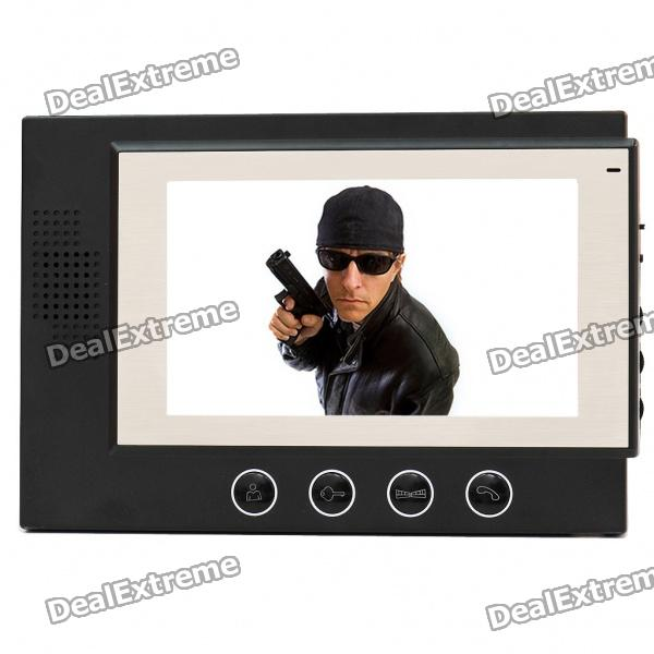 7 LED 300KP CMOS Video Door Phone 7 inch video doorbell tft lcd hd screen wired video doorphone for villa one monitor with one metal outdoor unit night vision