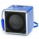 Portable USB Rechargeable MP3 Player Speaker with TF Slot - Blue
