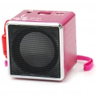 Portable USB Rechargeable MP3 Player Speaker with TF Slot - Rose Red