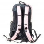 In-way Travel Backpack Double-Shoulder Bag w/ Water Bag Pocket + Whistle + Rainproof Cover - Pink
