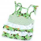 Cute Cotton Dress Skirt Dog Apparel Pet Clothes (Size-L/Color Assorted)