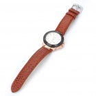 Stainless Steel Auto Mechanical Wrist Watch with Date Display - Coppery