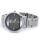 DayBird Rectangle Style Stainless Steel Quartz Wrist Watch - Silver (1 x LR626)
