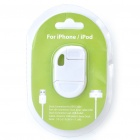Compact USB Data/Charging Cable for iPhone/iPod - White (8.2CM-Cable)