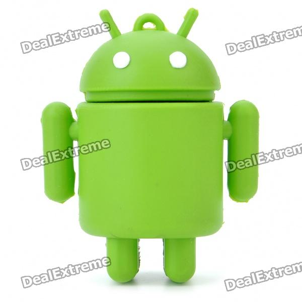 Cute Google Android Robot Style USB Flash/Jump Drive - Green (2GB)