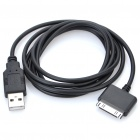 USB Data & Charging Cable for iPad/iPhone 3G/3GS/4 - Black (1.5M-Length)