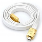 Gold Plated 1080P HDMI Male to Male Shielded Connection Cable - White + Golden (171CM-Length)