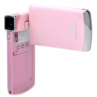 "Ultrathin HD 1080P 3.0"" LCD Touch Screen 5.0 MP Digital Camera Camcorder w/ HDMI/SD/AV-Out (Pink)"