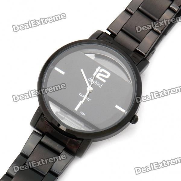 DayBird Stainless Steel Quartz Wrist Watch - Black (1 x LR626)
