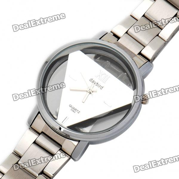 DayBird Stainless Steel Quartz Wrist Watch - Silver (1 x LR626) daybird 3755 w man s stainless steel analog quartz waterproof wrist watch white black silver