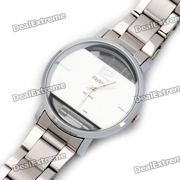 DayBird Stainless Steel Quartz Wrist Watch - Silver (1 x LR626) мышь беспроводная smartbuy one 341ag черная [sbm 341ag k]