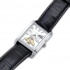 CJIABA Leather Band Self-Winding Mechanical Wrist Watch