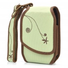 Nite Ize Nylon Mobile Cell Phone Storage Carrying Bag with Mirror + Clip + Strap - Light Green