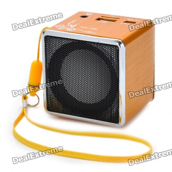 Mini Portable USB Rechargeable MP3 Music Player Speaker With USB/TF   Orange