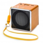 Mini Portable USB Rechargeable MP3 Music Player Speaker with USB/TF - Orange