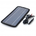3.5W 200mA Solar Power Panel Auto Car Battery Charger - Black
